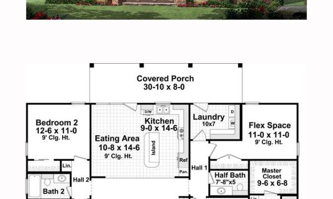 Traditional House Plan Total Living Area