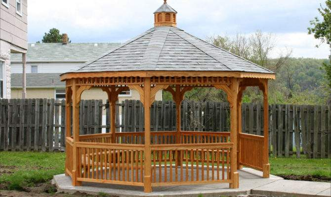 Treated Pine Octagon Gazebo Shown Deck Square