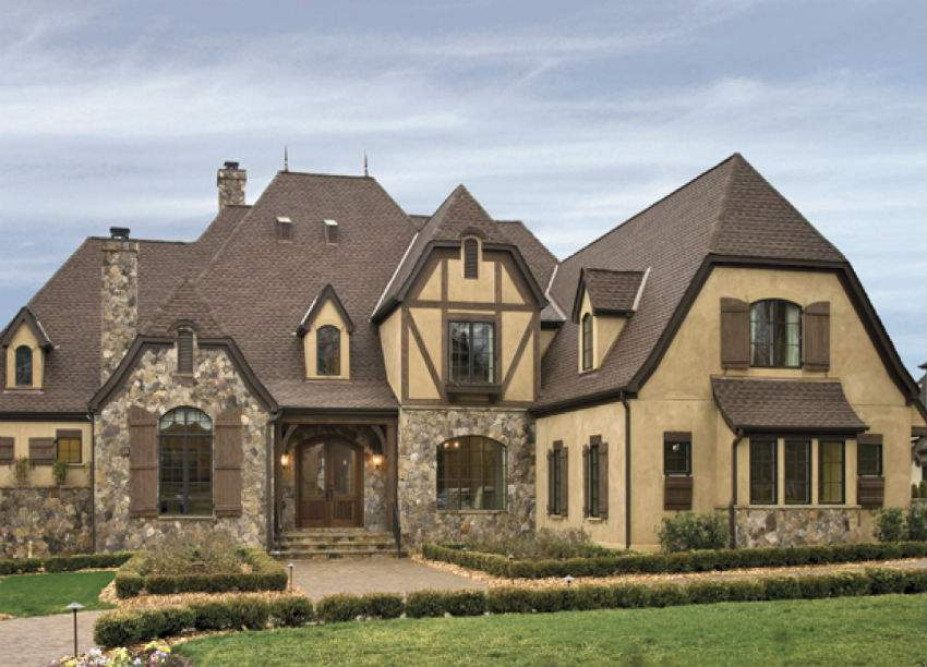 Tudor Style Stucco Homes Blue Collar