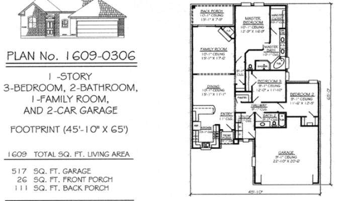Two Bedroom House Plans Car Garage Homes