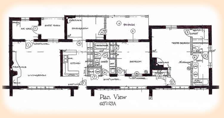Two Bedroom House Plans Small Spacious Floor
