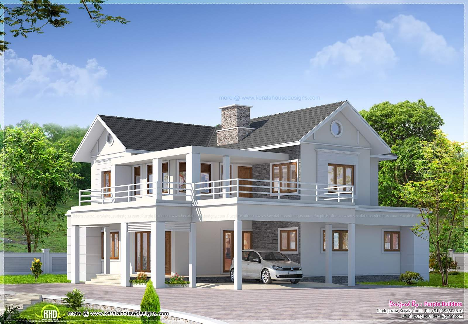 Two Storey Luxury Villa Has Total Area