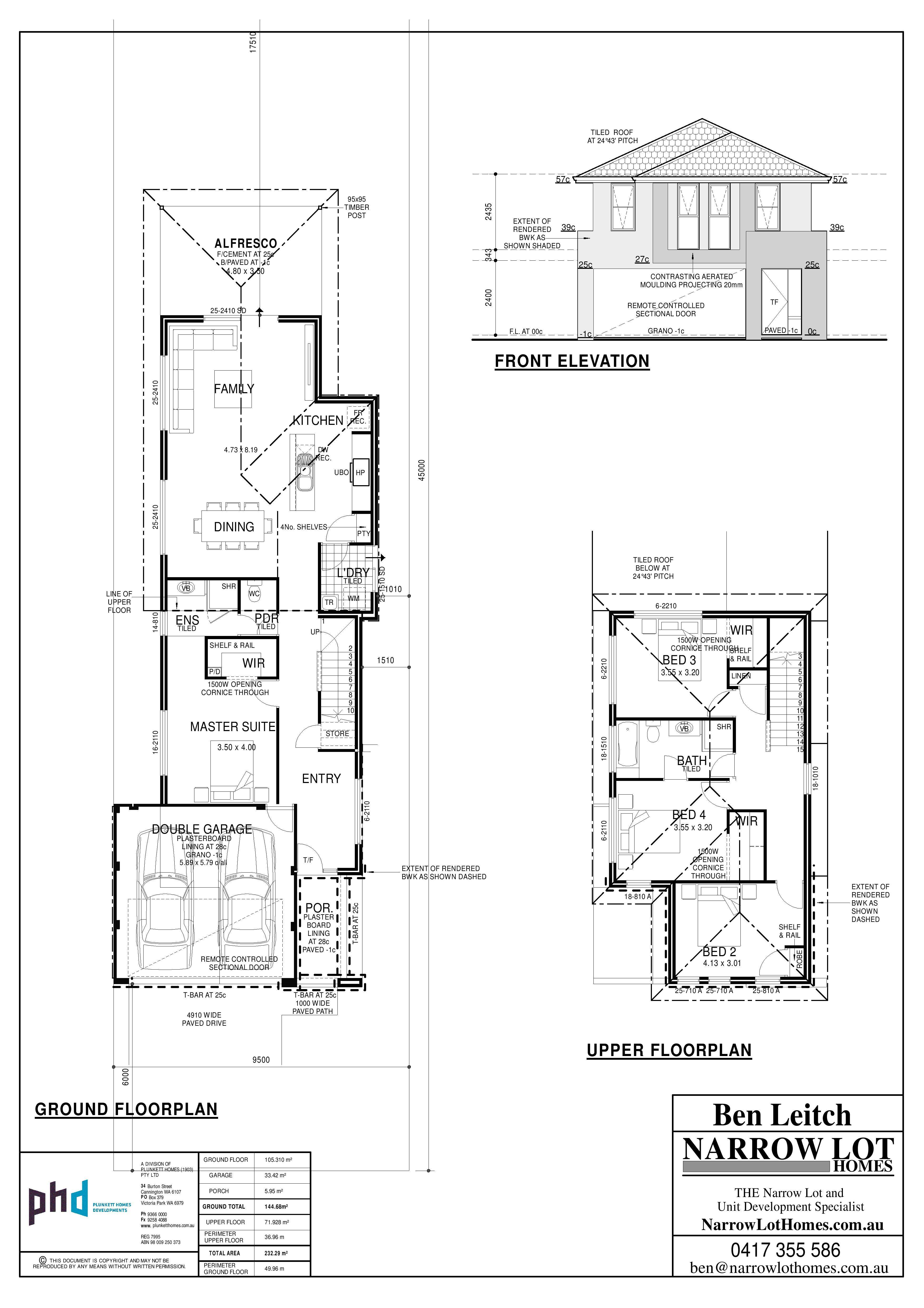 Two Storey Narrow Lot House Plan Unforgettable Hireonic