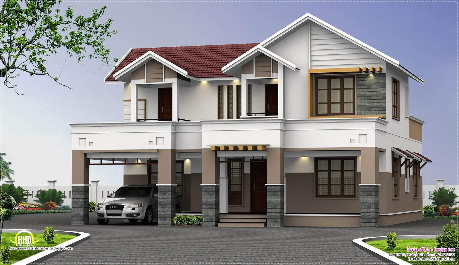 Two Story House Plans Kerala Perspective Series