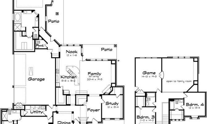 Two Story Large Home Plans Game Room
