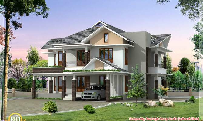 Ultra Modern House Elevation Kerala Home Design Floor Plans