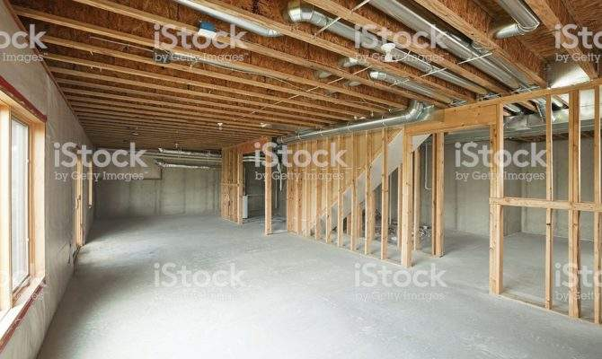 Unfinished House Walkout Basement More