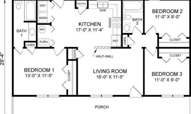 Unique Bedroom One Story House Plans New Home Design