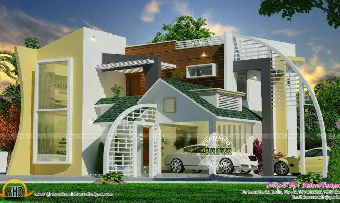 Unique Ultra Modern Contemporary Home Kerala Design