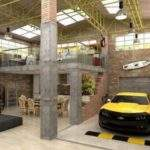 Urban Industrial Loft Apartment Garage Media Cache