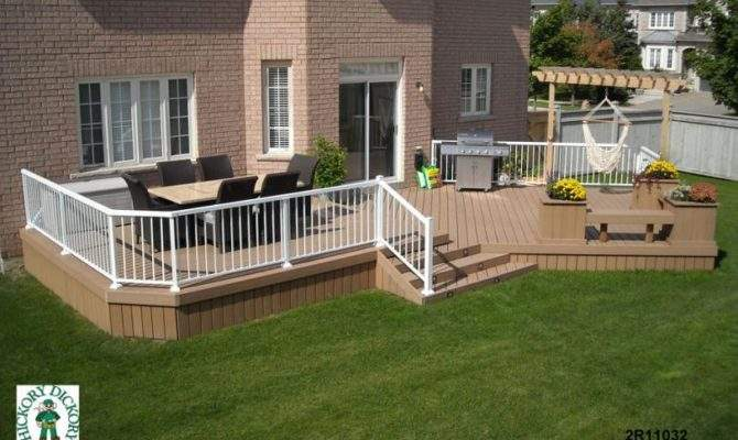 Very Large Level Deck Planters Benches
