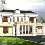 Victorian Style Luxury Home Design Kerala Floor