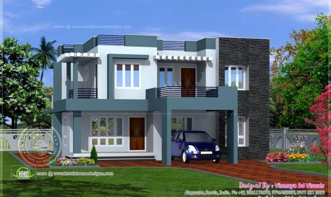 Villa Elevation Designed Vismaya Visuals Ambalapuzha Alappuzha