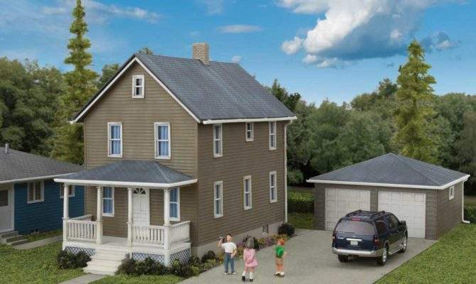 Walthers Two Story House Garage Kit