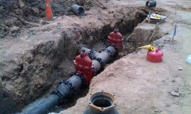Water Main Installation Services Pvc Dip Pipe