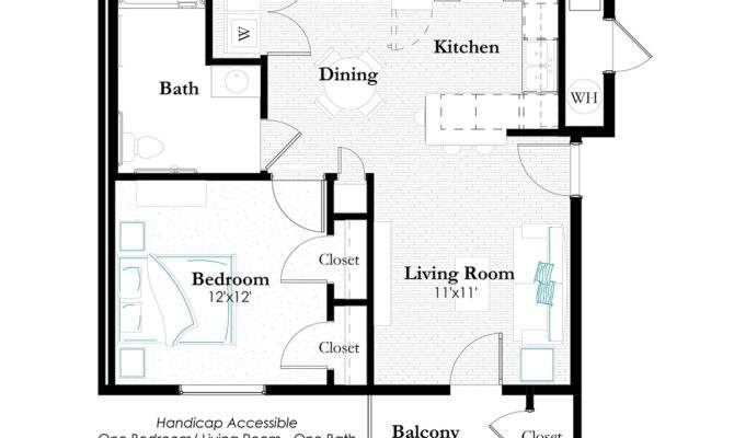 Wheelchair Accessible Apartment Floor Plans Thefloors