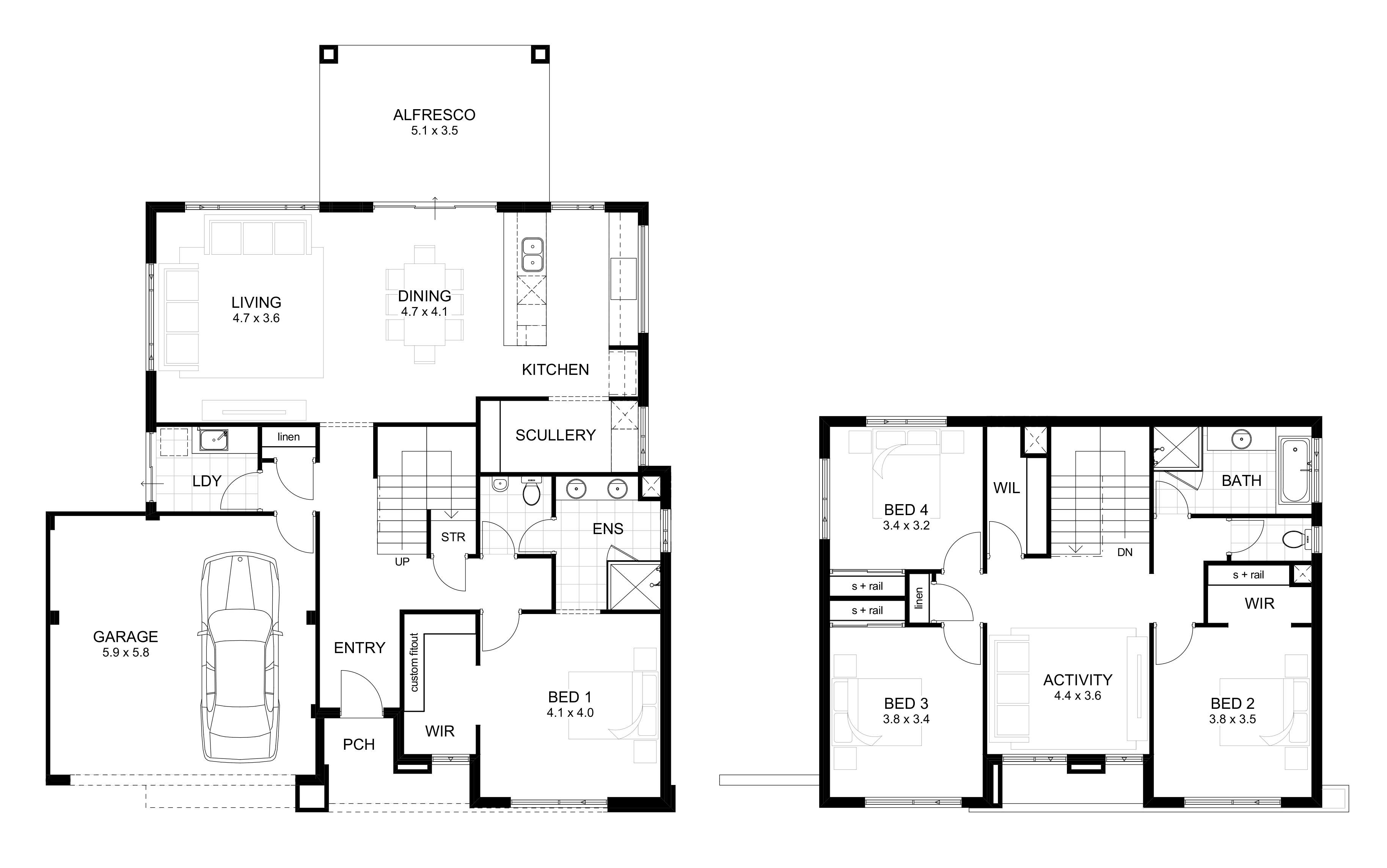 Wide House Designs Perth Single Double Storey