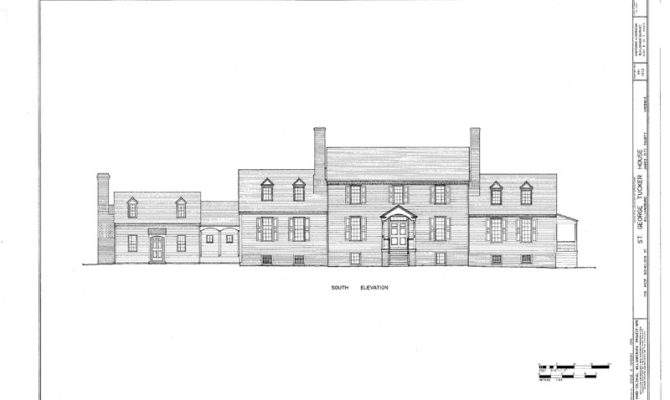 Williamsburg Colonial Home Plans Traditional Wood Country House