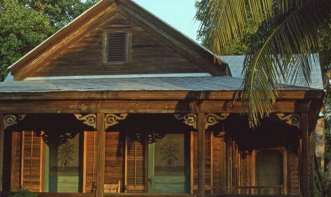 Wood Unpainted House Typical Conch Key West Florida