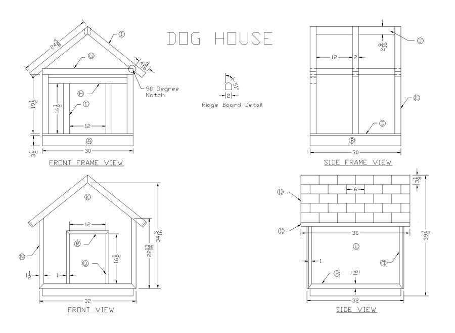 Woodwork Plans Wood Dog House Pdf